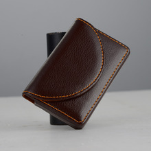 New Business Men Card Holder PU Leather Name ID Card Holder Wallet Mini Pocket Bus Card Holder Case Box For Women Man Purse Gift