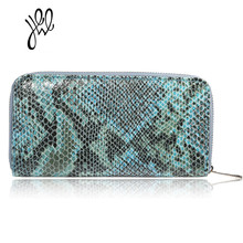 Yehwang Fashion Fabi Cheap Women's Money Wallet International Style Snake Stripe Summer Wallet Online Store Lady Purse 500500(China)