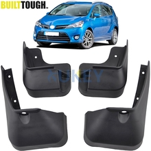 Set Car Mud Flaps For Toyota Verso 2009-2016 Mudflaps Splash Guards Mud Flap Mudguards Fender 2010 2011 2012 2013 2014 2015(China)