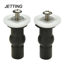 JETTING 1PC Toilet Seat Hinge Blind Hole Fixing Fix Well Nuts Screw Rubber Black