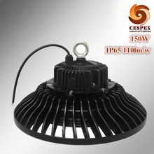 UFO AC110V 220V 240V 110lm/w outdoor IP65 water proof 150W led highbay light fixture replace 400w high pressure sodium