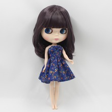 Free shipping icy factory blyth doll bjd neo dark purplr hair BL9219 with fringes/bangs normal body 30cm 1/6 gift souvenir(China)