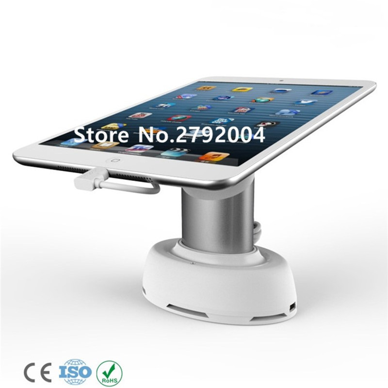 10pcs/lot Tablet security alarm Ipad display stand anti theft holder charging apple mount devices for retail phone shop sales<br>