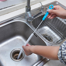 Hot Sale Kitchen Accessories Sewer Cleaning Brush Home Bendable Sink Tub Toilet Dredge Pipe Snake Brush Tools Creative Bathroom