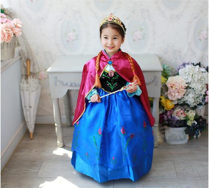 Fantasia girl dress, baby girls elsa anna dress,Floor Length party dress with mesh and diamond, girl costume, Children gift Z246<br><br>Aliexpress