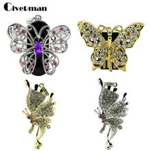 Personalized Crystal Necklace 4style Butterfly USB Flash Drive Girls 8GB 16GB 32GB 64GB Mini Pen Drive Pendrive USB Memory Stick(China)
