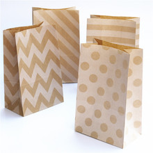24pcs/lot party paper bag craft kraft snack food gift wedding packing Designs of Stand-Up Candy Bags gifts bag(China)