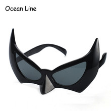 Funny Black Batman Costume Mask Novelty Glasses Party Props Halloween Favors Accessories Event Party Supplies Decoration Gift