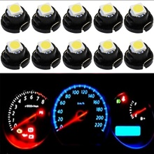 100pcs T4.2 T4 5050 SMD LED Neo Wedge Dashboard Instrument Cluster Light Car Panel Gauge Speedo Dash Bulb blue red green yellow(China)