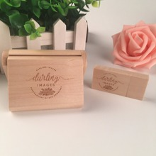 3.0 wooden usb with box custom logo memory flash stick pen drive (Name.wishes texts.free engraving)(China)