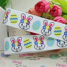 7/8'' Free shipping Easter rabbit grosgrain ribbon hair bow diy party decoration wholesale OEM 22mm B57