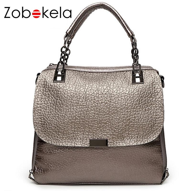 Zobokela women messenger bags chain shoulder bag designer handbags high quality brand women leather handbags tote bag bolsos<br>
