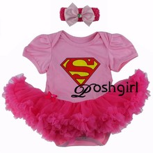 Personalized Baby Girl Clothes Newborn Outfit Baby Girl Outfit Tutu Dress with Headband Superman & Battman Photo Prop Girly girl
