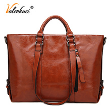 Buy Valenkuci Women Handbag Female Large Tote Handbags Business Shoulder Bags Women Crossbody Bag Women Leather bags A003 for $24.70 in AliExpress store