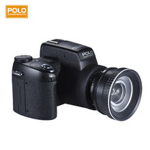 "Polo Sharpshots Auto Focus AF 33MP 1080P FHD 8X Zoomable Digital Camera w/Standard+0.5X Wide Angle+24X Telephoto Lens 3.0""LCD"