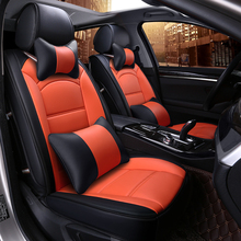5Seat(front+rear)Automobiles car seat cover car-styling for DODGE caravan/Journey/Dart/Avenger/Charger/challenge seat covers