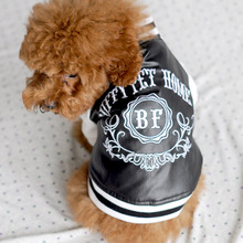 New Small Pet Dog Leather Motorcycle Jacket Coat Clothes Baseball Coat Jumpsuit Chihuahua Pet Clothes  BS