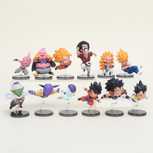 2sets 5-9cm Dragon Ball Z The Historical Characters WCF DragonBall PVC Action Figure Collection Model Toy Doll Gifts vol.1 vol.3