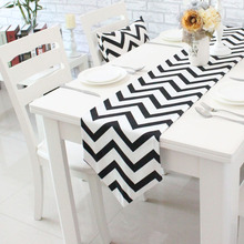 Wave Striped Table Runner Modern simple tea table cloth TV cabinet decorative bed flag