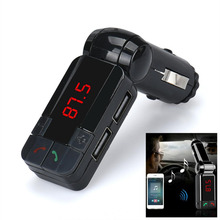 New Arrival Hot Dual USB Car Kit Charger Wireless Bluetooth Stereo MP3 Player FM Transmitter st23(China)