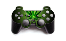 Green Weed Vinyl Skin Sticker Cover For Sony PS2 Wireless Controller Skin For Playstation 2 Gamepad Decal Joystick Controle