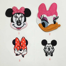 12 pcs Mickey Mouse Minnie Mouse nice Daisy duck iron on transfers patches birthday gift for hat clothing mix order(China)