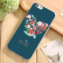 Soft Silicon Cases For Apple iPhone 5 5S SE 6 6S Plus 5C iPhone6S Case Protective Cover Shell Best Choose 2017 Tempting Floral