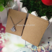 New Hot  Kraft  Necklace  CARD 50x70MM Pendant Display Card    Custom Logo Cost Extra MOQ : 1000PCS