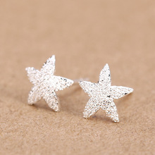 Trusta Women's 100% 925 Sterling Silver Jewelry Fashion cute Tiny 5 stars Stud Earrings Gift for Girls Friend Kids Lady DS25(China)