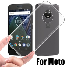 Transparent Soft TPU Case For Motorola Moto G G2 G3 G4 G5 Plus X Style X2 E E2 E3 Z Play M Slim Fit Protector Phone Back Cover