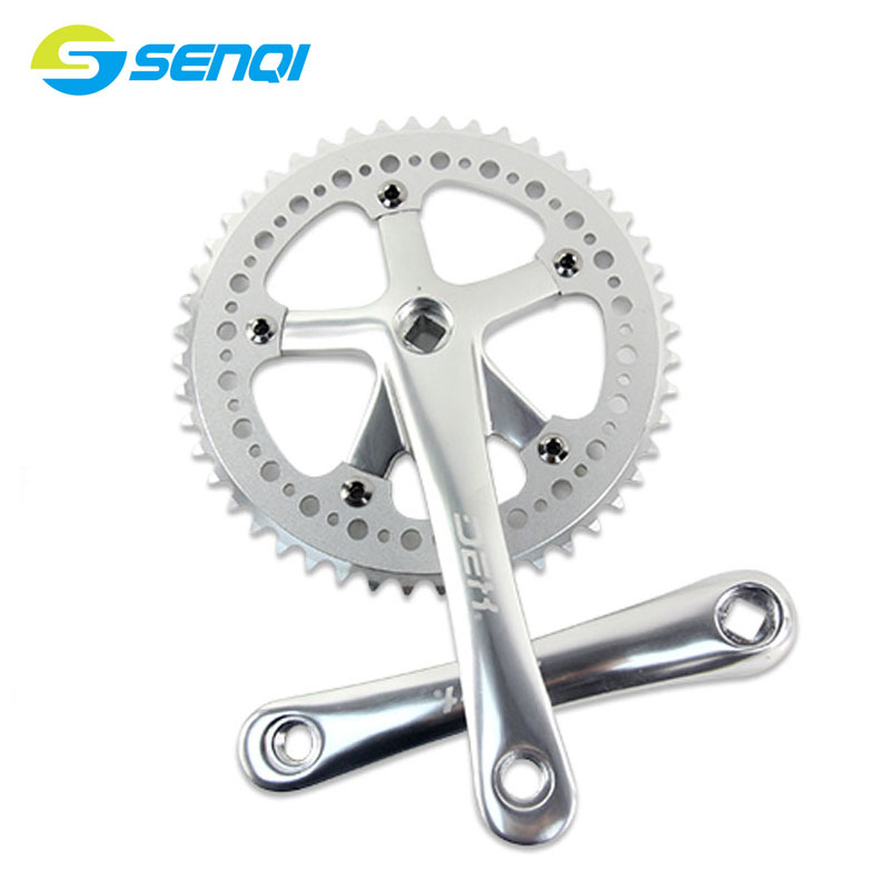 46T/48T/52T*170mm Ultralight Aluminum Crank Road Bicycle Retro Chainring Bike Crankset&amp;Crank Hollow Out Chainwheel CZY005<br>