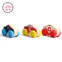 Baby Toys Mini Car Wooden Toys For Children Vehicle Toy Car Model For Kids Gift L30(China)