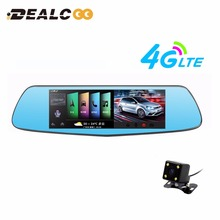 "Dealcoo Car DVR camera 7"" Android rearview mirror FHD 1080P Dual lens GPS navigator with Rear view camera Video Record Dash cam"