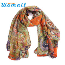 Amazing Fashion Women Girl Chiffon Printed Silk Long Soft Scarf Shawl Scarves Free Shipping