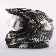 design brand THH off road motocross helmets casco capacetes Motorcycle helmet with dual lens New skull helmets