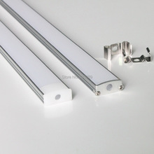 20m (20pcs) a lot, 1m per piece, led aluminum profile for led strips with milky diffuse cover