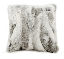 FREE SHIPPING CX-D-17A Real Natural Rabbit Fur Cushion Cover/ Fur Pillow Case Pillow Cover coussin decoration almofada Pillows