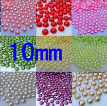 Free Shipping 10mm 100pcs 18 color,ABS half round  Imitation Pearls Bead ,Pearls round for crafts,DIY Phone Decoration