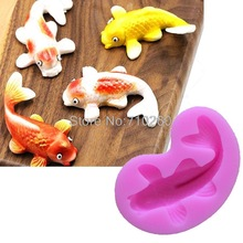 M103 Silicone Fondant Cake molds 3D Fish Candle Moulds Soap Mold Chocolate Mould for The Baking Tools Cake