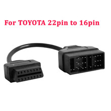 22 Pin OBD1 To 16 Pin OBD2 Convertor Adapter Cable For TOYOTA Diagnostic Scanner 2017(China)