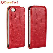 Fundas for iPhone 5s Cover Flip Croco PU Leather Cases for iPhone 4 4s 5 5S SE Coque Capa Carcasas Hoesjes Shell Funda(China)