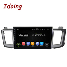 Idoing 2Din Android5.1Steering Wheel 10.1 Inch Car Multimedia DVD Player Fit toyota RAV4 Quad Core GPS Navigation Touch Screen