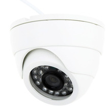 MOOL 800TVL Indoor Night Vision CCTV Dome Camera 24LEDS Wide Angle IR Color Cam