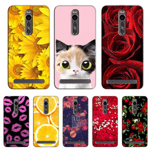 Popular Cover for Asus Zenfone 2 5.5 Inch ZE551ML ZE550ML Colorful Printing Case Flower for ZenFone ZE551ML case cover Shell