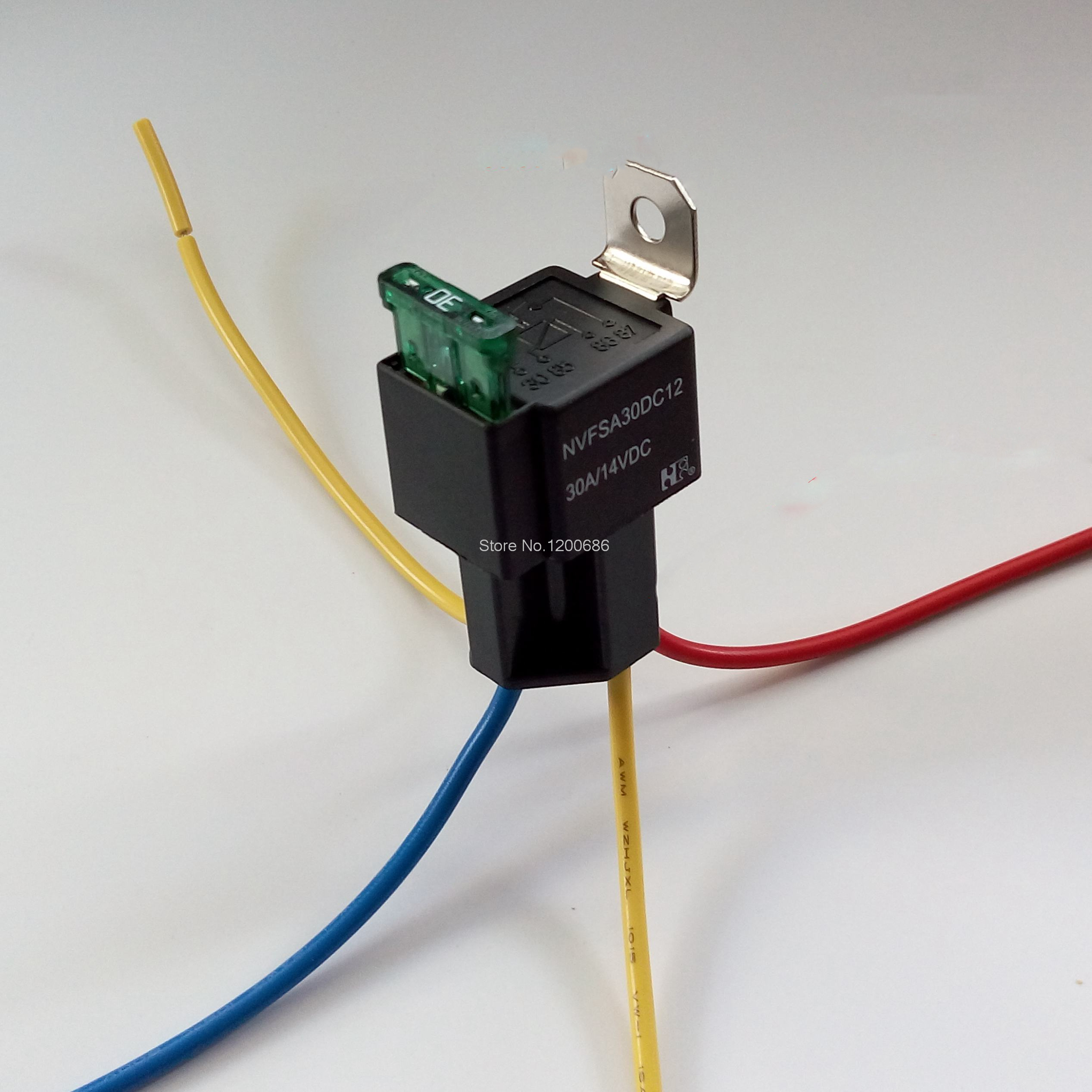 24V 30A Relay socket with fuse car modified relay<br><br>Aliexpress