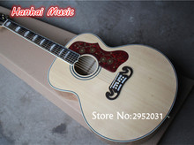 43 Inch Folk Acoustic Guitar,Natural wood Color,Soild Spruce Top,Flame Maple Back and Side Body,can be Customized