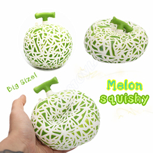 1PCS Jumbo Hami Melon Squishy Slow Rising Retail Packaging Phone Straps Charms Fruit Squishy Scented Pendant Bread Kid Toy Gift
