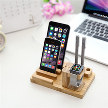 Luxury Natural Wood Charging Dock Stand Phone Holder For Apple iPhone 7 plus 6 6s Plus 5s 5c 5 SE for iWatch iPad mini Holder(China)