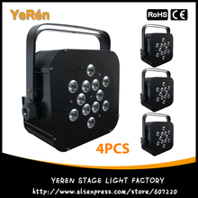 (4PCS) LED Flat Par LED Par Light 12*10W RGBW 4in1 Par64 Light for Disco & KTV Light & DJ Party
