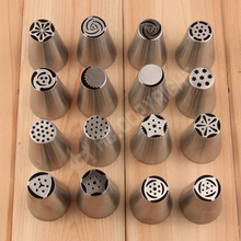 High Quality 17 Kinds Style Russian Tulip Flowers Icing Piping Nozzles Pastry Tips Stainless Steel Mold Buttercream Cake Tools